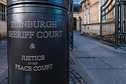 Exterior view of Edinburgh Sheriff Court in Scotland, United Kingdom
