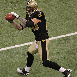 16 January 2010: New Orleans Saints tight end Jeremy Shockey (88) during warm ups prior to kickoff of a 45-14 win by the New Orleans Saints over the Arizona Cardinals in a 2010 NFC Divisional Playoff game at the Louisiana Superdome in New Orleans, Louisiana.