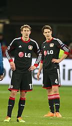 Football: Champions League<br /> Bayer 04 Leverkusen <br /> Stefan Kiessling and Philipp Wollscheid *** Local Caption *** © pixathlon