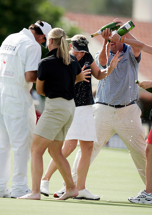 RANCHO MIRAGE, CA - MARCH 24, 2005:  Annika Sorenstam after winning the Kraft Nabisco Championship in Rancho Mirage, CA on March 25, 2005. The tournament is the first major of the year for the LPGA tour.  (Photo by Todd Bigelow/Aurora)