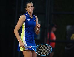 May 16, 2019 - Rome, SPAIN - Karolina Pliskova of the Czech Republic in action during her third-round match at the 2019 Internazionali BNL d'Italia WTA Premier 5 tennis tournament (Credit Image: © AFP7 via ZUMA Wire)