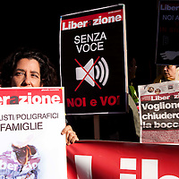 Protesta redattori Liberazione