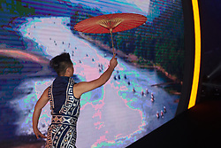 Entertainment begins at The UCI Cycling Gala 2018 in Guilin, China on October 21, 2018. Photo by Sean Robinson/velofocus.com