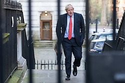 © Licensed to London News Pictures. 19/12/2017. London, UK. Foreign Secretary Boris Johnson arrives on Downing Street for the weekly Cabinet meeting. Photo credit: Rob Pinney/LNP
