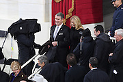 Former Senate Majority Leader Bill Frist arrives with his wife Tracy Roberts for the Inauguration of President-elect Donald Trump as the 45th President on Capitol Hill January 20, 2017 in Washington, DC.