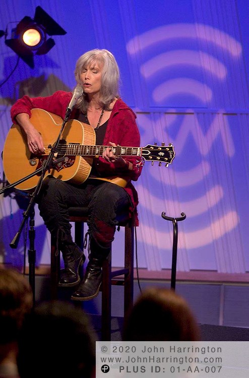Emmylou Harris, country recording artist, performs at XM for one of their Artist Confidentials on Tuesday August 17, 2004.