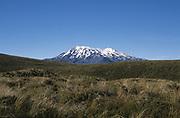 Mount Ruapehu, Mount Tongariro, New Zealand, Volcano, snow capped, blue sky