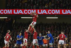 February 1, 2020, Cardiff (Wales, Italy: aaron wainwright (galles) recupera ball in touche during Wales vs Italy, Six Nations Rugby in Cardiff (Wales), Italy, February 01 2020 (Credit Image: © Massimiliano Carnabuci/IPA via ZUMA Press)