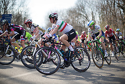 Elenea Cecchini (Canyon//SRAM Cycling Team) rides in the main pack in the first, short lap of Trofeo Alfredo Binda - a 123.3km road race from Gavirate to Cittiglio on March 20, 2016 in Varese, Italy.