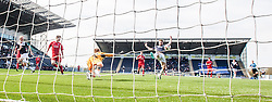 Falkirk's Rory Loy misses a chance.<br /> Falkirk 2 v 1 Raith Rovers, Scottish Championship game played today at The Falkirk Stadium.<br /> © Michael Schofield.