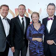 NLD/Rotterdam/20110925 - Premiere Daddy Cool, Albert Verlinde en partner Onno Hoes,  staatsecretaris Halbe Zijlstra en partner