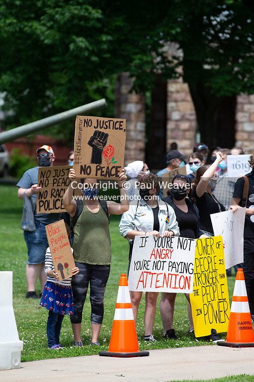 Several hundred people gathered at Memorial Park in Danville, PA to protest police violence and in support of Black Lives Matter.