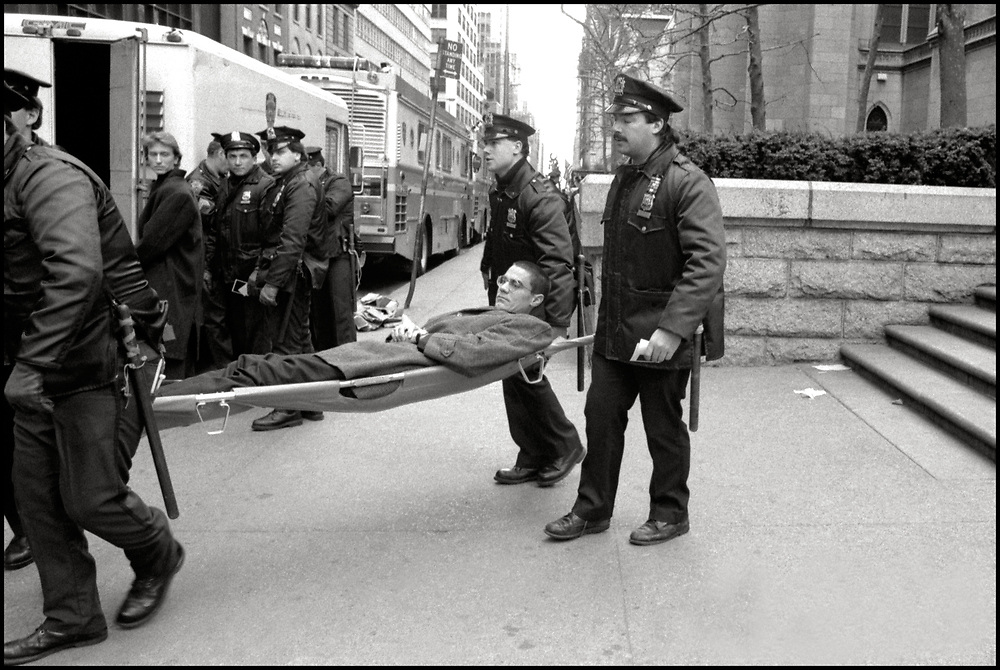 On December 8,1989, Walter Armstrong was arrested inside St. Patricks Cathedral as ACT UP and WHAM! made history with a massive protest at St.Patrick's Cathedral. Five thousand people protested the Roman Catholic Archdiocese's public stand against AIDS education and condom distribution, and its opposition to a women's right to abortion.