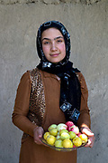 Balkh province Afghanistan. Samarkand-Dion. Teacher Makai aged 19, she is also a school student in class 9. She is from the village and has been teaching for 3 years.