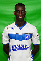 Moussa Diallo of Auxerre during Auxerre squad photo call for the 2016-2017 Ligue 2 season on September, 7 2016 in Auxerre, France ( Photo by Andre Ferreira / Icon Sport )