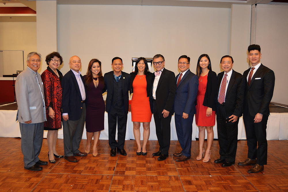 Members of HISD's Asian Advisory Committee, who sponsored the event: Gordon Quan, Dorothy Chow, Cecil Fong, Angela Chen (Fox26), Nelvin Adriatico, Anne Sung, Minh Tran, David Quan, Annie Song Torres, Patrick Leung, and Victor Lee