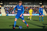 AFC Wimbledon Jack Rudoni (12) dribbling during the EFL Sky Bet League 1 match between AFC Wimbledon and Fleetwood Town at the Cherry Red Records Stadium, Kingston, England on 8 February 2020.