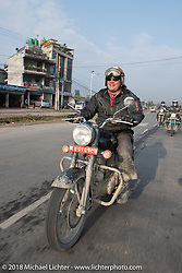 Rip Rolfsen on day-9 of our Himalayan Heroes adventure riding from Pokhara to Nuwakot, Nepal. Wednesday, November 14, 2018. Photography ©2018 Michael Lichter.