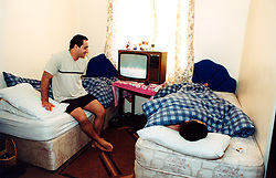 Asylum seekers from Iran in a Bradford hostel, Yorkshire UK
