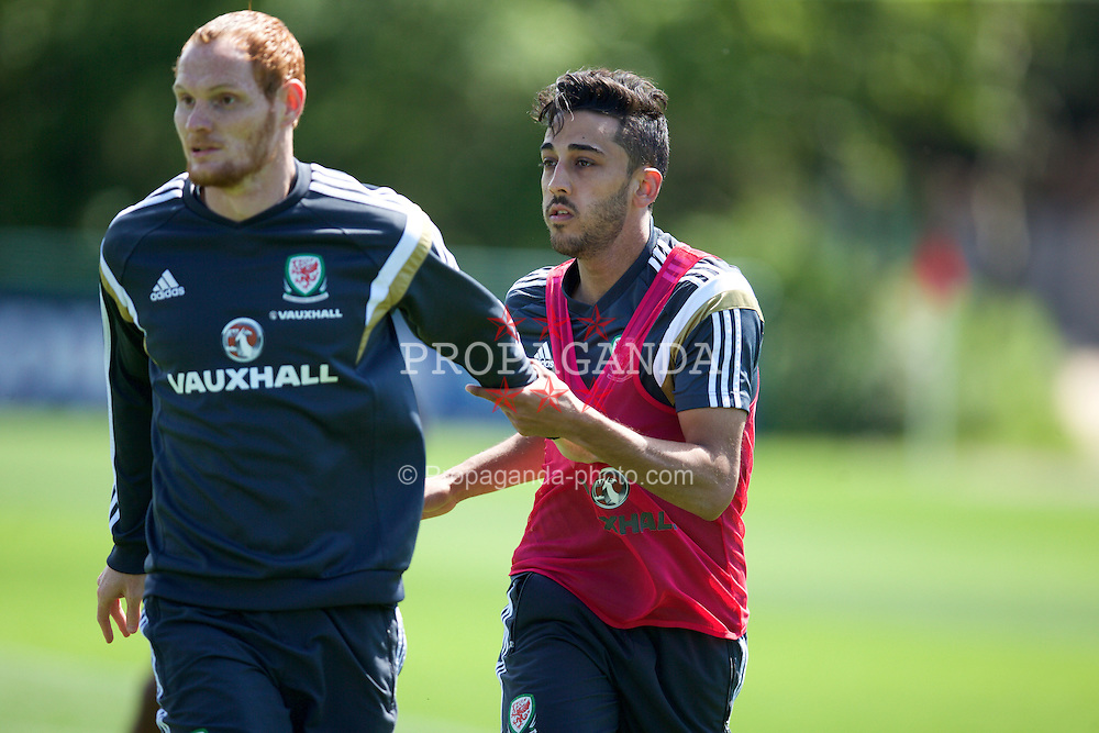 CARDIFF, WALES - Wednesday, June 10, 2015: Wales' Neil Taylor during a training session at the Vale of Glamorgan ahead of the UEFA Euro 2016 Qualifying Round Group B match against Belgium. (Pic by David Rawcliffe/Propaganda)