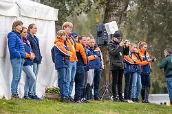 Team Netherlands, Boonzaaijer Janneke, Wilken Jordy, De Jong Sanne, Blom Merel, Heffernan Andrew, Hofland Leendert Jan, Wagemakers Ad, NED<br /> FEI EventingEuropean Championship <br /> Avenches 2021<br /> © Hippo Foto - Dirk Caremans<br />  23/09/2021