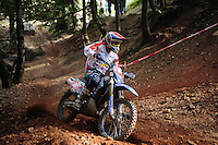 A member of Team Britain races through the timed trial during day 2 of the 2012 ISDE in Dresden, Germany (Marissa Baecker/ Shoot the Breeze)