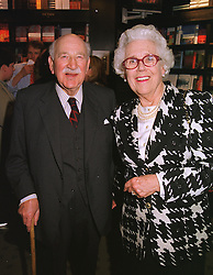 MAJOR EDMUND & MRS DE ROTHSCHILD at a party in London on 28th April 1999.MRN 4