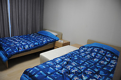 PYEONGCHANG, Oct. 30, 2017  Photo taken on Oct. 30, 2017 shows interior of the Gangneung Olympic Village for the PyeongChang Winter Olympic Games 2018, in Pyeongchang, South Korea. (Credit Image: © Geng Xuepeng/Xinhua via ZUMA Wire)
