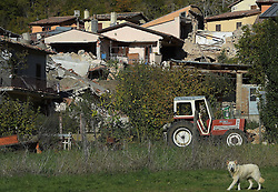A view of the village of San Pellegrino near Norcia, central Italy on October 31, 2016 one day after the earthquake. Italy's most powerful earthquake in 36 years struck a new blow to the country's seismically vulnerable heart, terrifying residents for the third time in nine weeks. PHOTO by Eric Vandeville/ABACAPRESS.COM