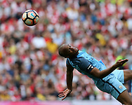 Vincent Kompany of Manchester city in action. The Emirates FA Cup semi-final match, Arsenal v Manchester city at Wembley Stadium in London on Sunday 23rd April 2017.<br /> pic by Andrew Orchard,  Andrew Orchard sports photography.