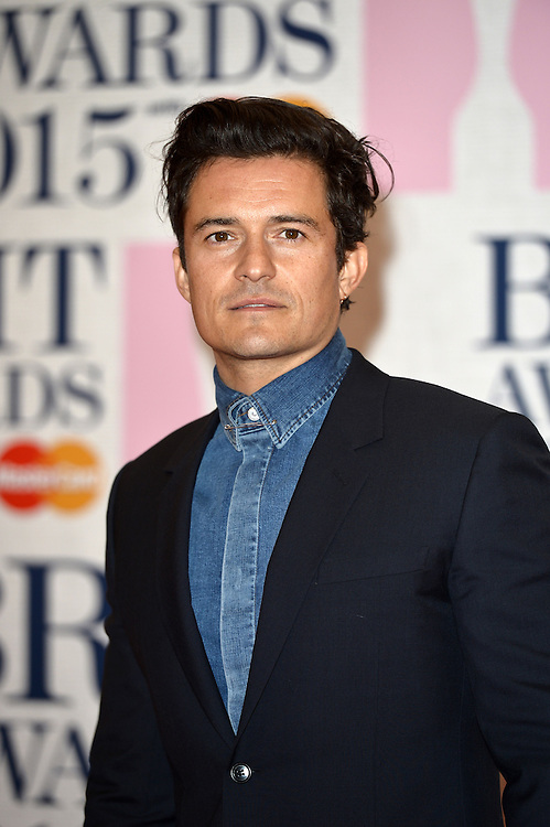 Brit awards 2015 at 02 arena . Pictured Orlando Bloom   Pic Dave Nelson