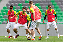 Bostjan Cesar during practice session of Slovenian National football team 2 days before EURO 2012 Qualifications game against Faroe Islands, on June 1, 2011 in Stadium Stozice, Ljubljana, Slovenia. (Photo By Vid Ponikvar / Sportida.com)
