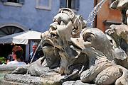 Italy, Rome, the fountain at Piazza della rotonda