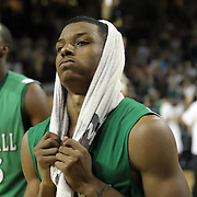 Marshall guard Shaquille Johnson (23) leaves the court after a Conference USA NCAA basketball game between the Marshall Thundering Herd and the Central Florida Knights at the UCF Arena on January 5, 2011 in Orlando, Florida. Central Florida won the game 65-58 and extended their record to 14-0.  (AP Photo/Alex Menendez)