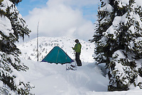 Backcountry ski camp, Manning Provincial Park British Columbia Canada