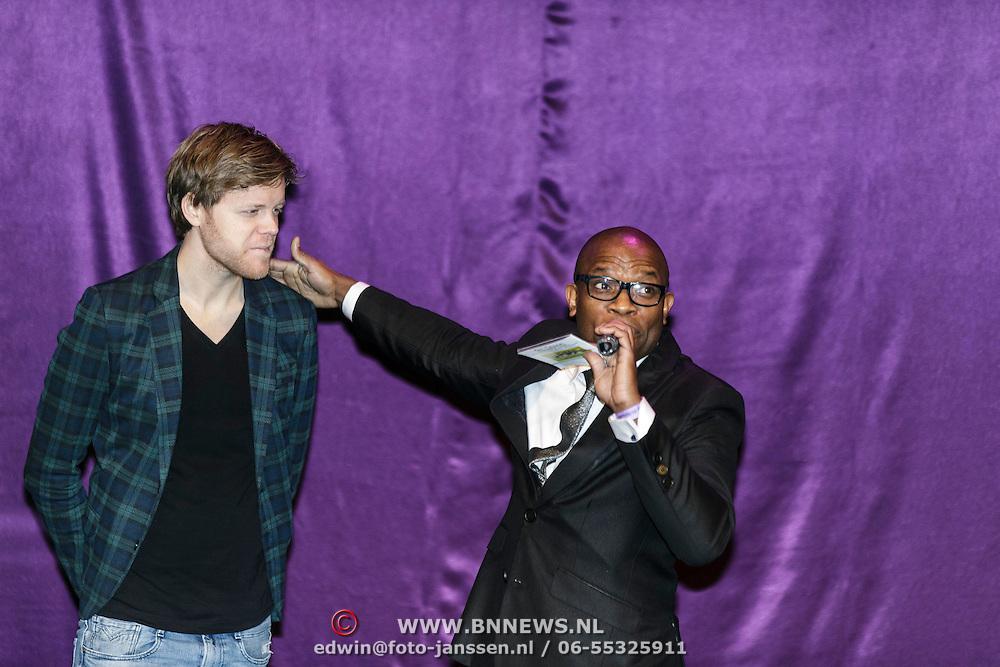 NLD/Almere/20150205 - Koningin Maxima bezoekt Almere on Stage, Lex Uiting
