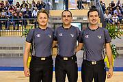 Valerio Salustri, Marco Rudellat, Marcello Callea<br /> Trofeo di Nuoro<br /> Banco di Sardegna Dinamo Sassari - Cagliari Dinamo Academy<br /> Nuoro, 13/09/2017<br /> Foto L.Canu / Ciamillo-Castoria