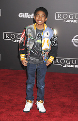 December 10, 2016 - Los Angeles, California, United States - December 10th 2016 - Los Angeles California USA - Actor MILES BROWN   at the World Premiere for ''Rogue One Star Wars'' held at the Pantages Theater, Hollywood, Los Angeles  CA (Credit Image: © Paul Fenton via ZUMA Wire)