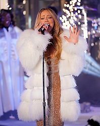 Mariah Carey hits most of her notes at the 2018 New Year's eve ball drop at Times Square in New York for Dick Clark's Rockin' Eve. 01 Jan 2018 Pictured: Mariah Carey. Photo credit: FZS / MEGA TheMegaAgency.com +1 888 505 6342