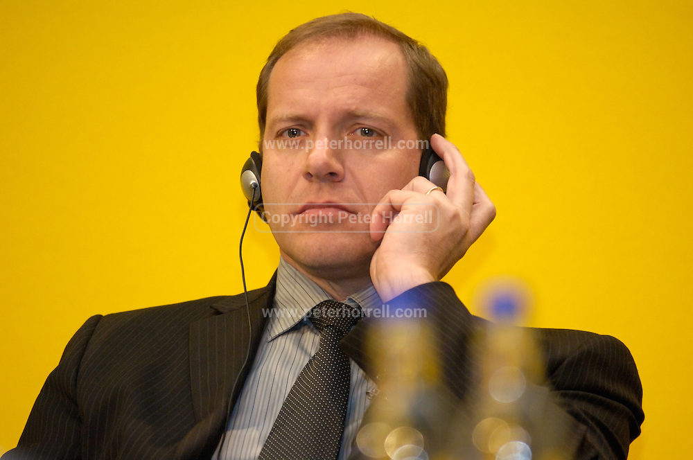 Christian Prudhomme, Director of the Tour de France,  at the official launch of London hosting the Prologue and Stage One of the 2007 Tour de France held at the Queen Elizabeth 2 Conference Centre on Thursday 9th February 2006.