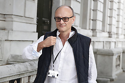 © Licensed to London News Pictures. 30/08/2019. London, UK.  Government special advisor Dominic Cummings arrives at the Cabinet office in Whitehall. The government has asked the Queen to suspend Parliament in the days after MPs return to work in September - a few weeks before the Brexit deadline of October 31st. Photo credit: Peter Macdiarmid/LNP