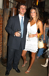 Polo player RODDY WILLIAMS and MISS AMANDA SHEPPARD at a party in association with the Hurlingham Polo Association and AJM International publishing to celebrate the forthcoming Cartier International Polo day held at The Collection, 264 Brompton Road, London on 20th July 2004.