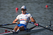 Plovdiv BULGARIA. 2017 FISA. Rowing World U23 Championships. <br /> GBR BM1X.  ARMSTRONG, Josh.<br />     <br /> Wednesday. PM,  Heats 18:10:02  Wednesday  19.07.17   <br /> <br /> [Mandatory Credit. Peter SPURRIER/Intersport Images].