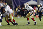 San Francisco 49ers offensive tackle Fahn Cooper (64) blocks along the line of scrimmage during the 2016 NFL preseason football game against the San Diego Chargers on Thursday, Sept. 1, 2016 in San Diego. The 49ers won the game 31-21. (©Paul Anthony Spinelli)