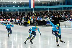 10-12-2016 NED: ISU World Cup Speed Skating, Heerenveen<br /> Team sprint Kazachstan