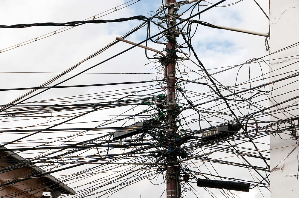 Bolivia June 2013. La Paz. Electricity wires.