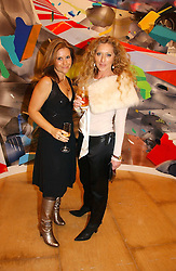 Left to right, presenter HARRIET SCOTT and interior designer KELLY HOPPEN at a reception to celebrate the opening of 'USA Today' - an exhibition of work from The Saatchi Gallery held at The Royal Academy of Arts, Burlington Gardens, London on 5th September 2006.<br />