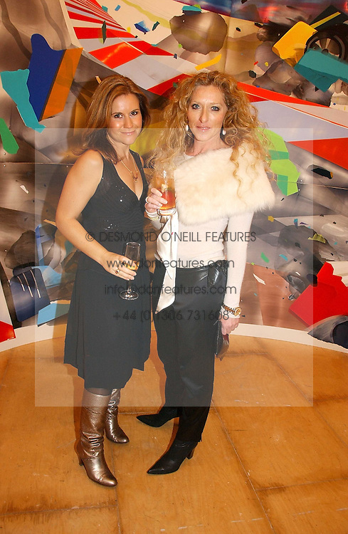 Left to right, presenter HARRIET SCOTT and interior designer KELLY HOPPEN at a reception to celebrate the opening of 'USA Today' - an exhibition of work from The Saatchi Gallery held at The Royal Academy of Arts, Burlington Gardens, London on 5th September 2006.<br /><br />NON EXCLUSIVE - WORLD RIGHTS