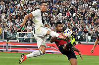 Cristiano Ronaldo of Juventus and Cristian Romero of Genoa compete for the ball during the Serie A 2018/2019 football match between Juventus and Genoa CFC at Allianz Stadium, Turin, October, 20, 2018 <br />  Foto Andrea Staccioli / Insidefoto