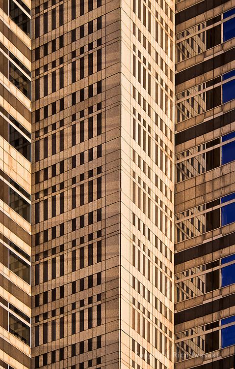 Detail view of Tokyo Metropolitan Government Building (Tokyo City Hall), Shinjuku district, Tokyo, Japan